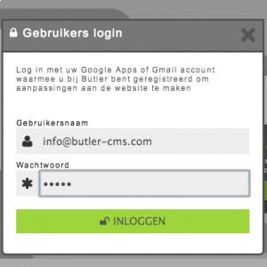 Waarom kan ik niet inloggen op mijn Butler website?