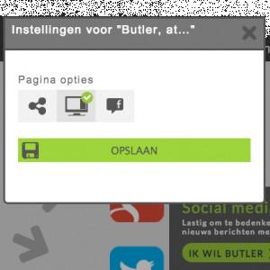 Mijn Homepage heeft geen Snappons, hoe krijg ik die terug?